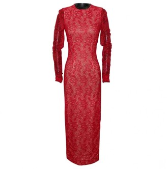 Alessandra Rich Red Lace Dresses