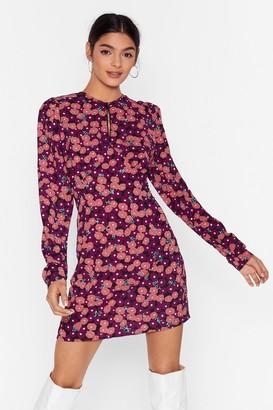 Nasty Gal Womens Grow 'Em What You've Got Floral Mini Dress - Black