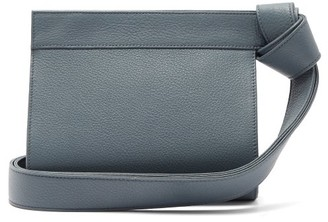 Tsatsas Tape Xs Grained-leather Clutch Bag - Light Blue