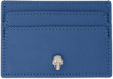Alexander McQueen Blue Skull Card Holder