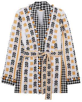 Dodo Bar Or Tasseled Broderie Anglaise Cotton-jacquard And Poplin Kimono