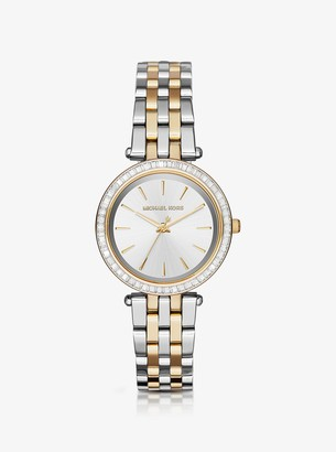 Michael Kors Mini Darci Pave Two-Tone Watch