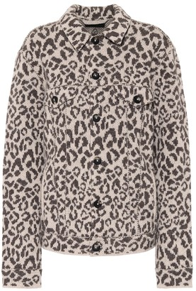 Alanui Leopard-jacquard wool jacket