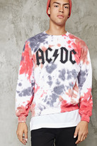 Forever 21 FOREVER 21+ Tie Dye ACDC Graphic Pullover