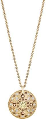 De Beers Yellow Gold Diamond Talisman Medal Necklace