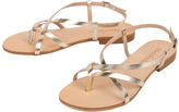 Cocobelle Gold Vera Leather Sandal