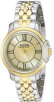 Bulova Accu Swiss Women's 65R159 Diamond Two Tone Watch