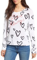 Sundry Women's Love Always Lightweight Pullover