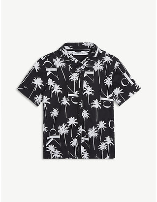 Calvin Klein Jeans Palm tree-print cotton shirt 4-16 years