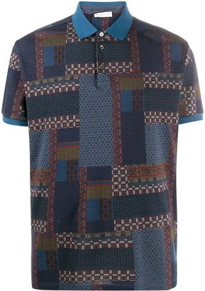 Etro Short-Sleeved Patchwork Print Polo Shirt