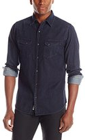 ProjekRaw Projek Raw Men's Wash Denim Snap Front Shirt