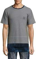PRPS Men's Check Knitted Tee