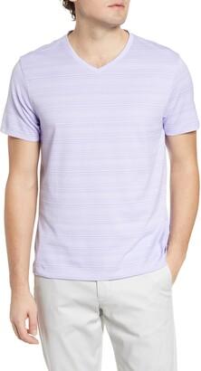 Robert Barakett Augustus Stripe V-Neck T-Shirt