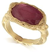 Jade Jagger Maiden Ruby Sterling Silver with Gold Vermeil Ring - Size K