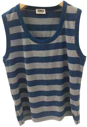 Sonia Rykiel Sonia By Blue Cotton Top for Women