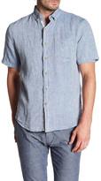 Report Collection Short Sleeve Enzyme Wash Linen Regular Fit Shirt