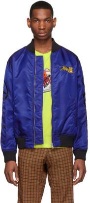 Kenzo Blue Jumping Tiger Bomber Jacket