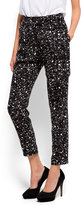 MANGO Printed tapered trousers