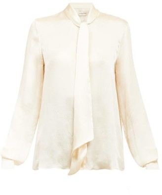 Alexandre Vauthier Pussy-bow Silk-satin Blouse - Ivory