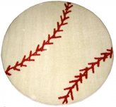 "La Rug - Baseball Rug - 39"" Round"
