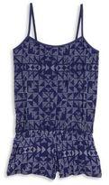 Splendid Girl's Deckhouse Geometric-Print Romper