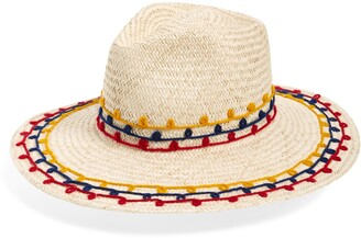 Brixton Joanna Embroidered Straw Hat