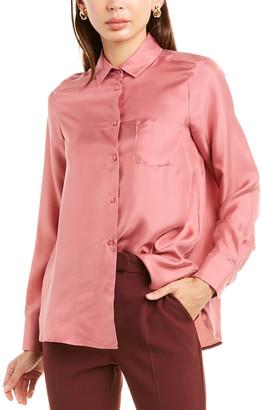 Max Mara Weekend Zigrino Silk Shirt