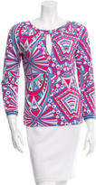 Emilio Pucci Abstract Print Keyhole-Accented Top