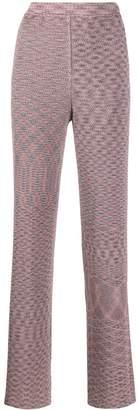 Missoni metallic knit trousers