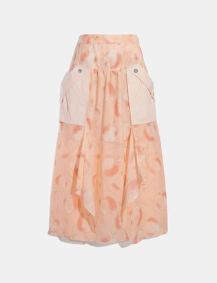 Coach Long Draped Skirt With Pockets
