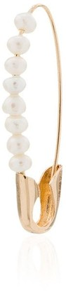 Loren Stewart 14kt Gold Pearl-Embellished Safety Pin Earring
