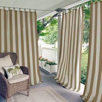 "Highland Stripe Indoor/Outdoor Curtain Panel, 50"" x 108"""
