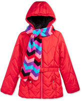 S. Rothschild 2-Pc. Quilted Puffer Jacket & Scarf Set, Big Girls (7-16)