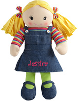 Blonde School Time Personalized Rag Doll