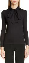 Co Essentials Tie Neck Cashmere Sweater