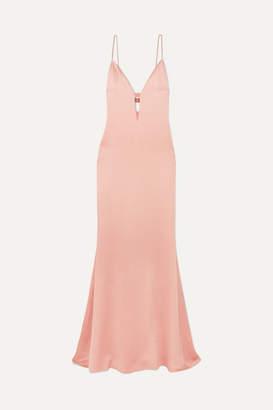 Cushnie Cutout Hammered-satin Gown - Pink