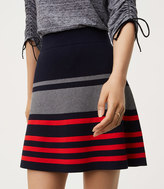LOFT Striped Flippy Sweater Skirt
