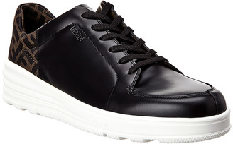 Fendi Ff Fabric & Leather Sneaker