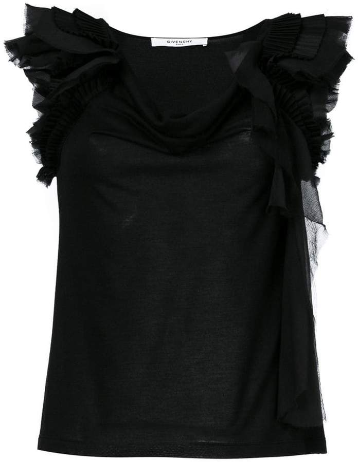Givenchy frill-trim off-shoulder blouse
