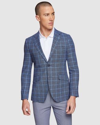 Oxford Blake Linen Cotton Checked Blazer