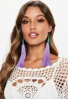 Missguided Purple Mermaid Tassel Earrings