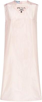 Prada Taffeta Sleeveless Midi Dress