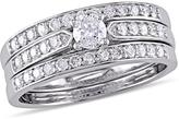 Julie Leah 5/8 CT TW Diamond Sterling Silver 3-Piece Bridal Set