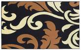 Linon Capri Black Floral Rug - 4'3'' x 7'3''