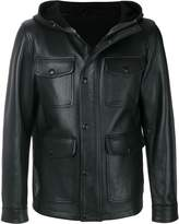 Ami Alexandre Mattiussi hooded leather jacket