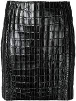 Thierry Mugler crocodile effect mini skirt