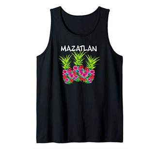 Mazatlan Flower Pineapples graphic Tank Top