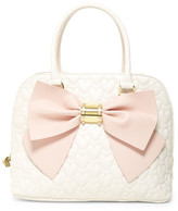 Betsey Johnson Quilted Heart Multi-Compartment Dome Satchel
