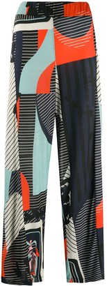 Henrik Vibskov Colour-Block Wide Leg Trousers