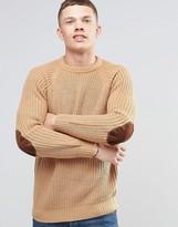 Brave Soul Fisherman Rib Sweater in Crew Neck